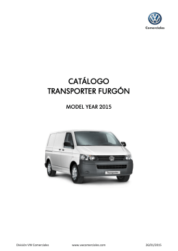 CATÁLOGO TRANSPORTER FURGÓN