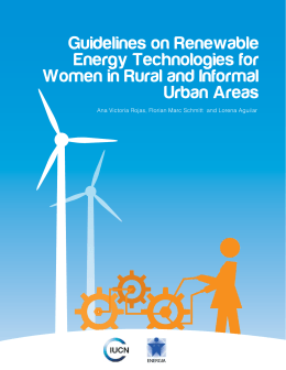 Guidelines on Renewable Energy Technologies for Women in Rural