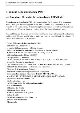 El camino de la abundancia PDF eBook