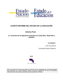 La evolución de la legislación educativa en Costa Rica