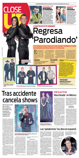 Tras accidente cancela shows
