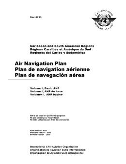 Air Navigation Plan Plan de navigation aérienne Plan de