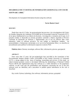 Desarrollo de un Sistema de Información Geoespacial con Uso de