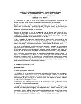 Ordenanza Reguladora - Ayuntamiento de Tudela