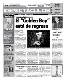 """el """"golden Boy"""" está de regreso"""