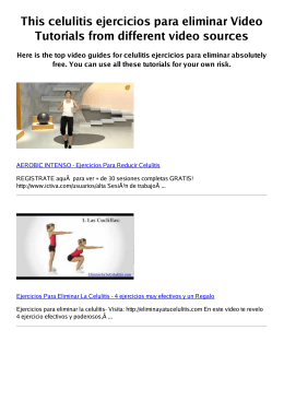 #Z celulitis ejercicios para eliminar PDF video books