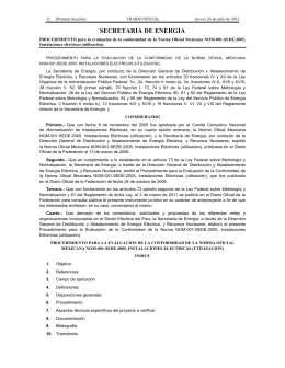 NOM-001-SEDE-2012 - Secretaría de Energía