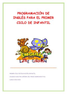 programación de inglés para el primer ciclo de infantil