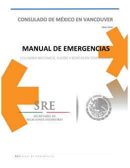 Manual de emergencias - Secretaría de Relaciones Exteriores