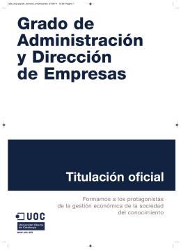 Grado de Administración y Dirección de Empresas