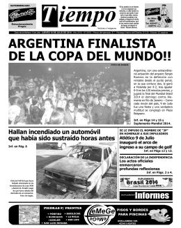 ARGENTINA FINALISTA DE LA COPA DEL MUNDO!!