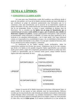 TEMA 6: LÍPIDOS