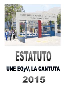 estatuto de la une - 2015 - Universidad Nacional de Educación