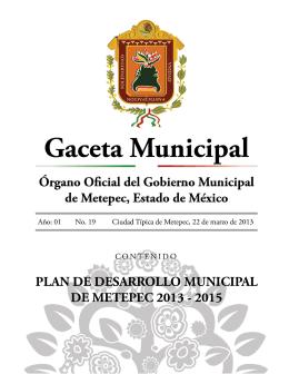 Plan de Desarrollo Municipal 2013-2015