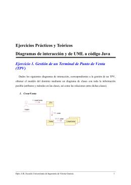 Ejercicios Prácticos y Teóricos Diagramas de interacción y de UML