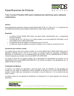 Especificacion de Producto - Conduit Flexible - feb