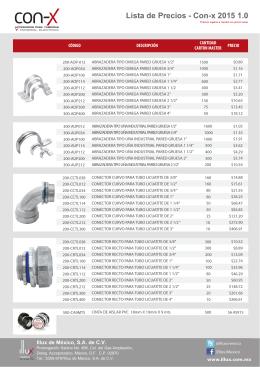 Lista de Precios - Con-x 2015 1.0