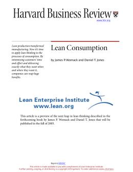 Lean Consumption