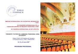 programa provisional - Col·legi de Fisioterapeutes de Catalunya
