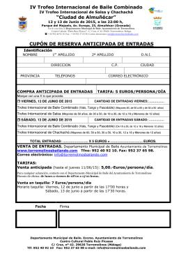 """IV Trofeo Internacional de Baile Combinado """"Ciudad de Almuñécar"""