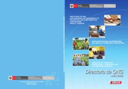 Directorio de ONG - Ministerio de Trabajo