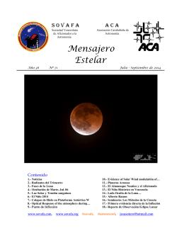 Mensajero Estelar No. 71 Julio - Septiembre 2014