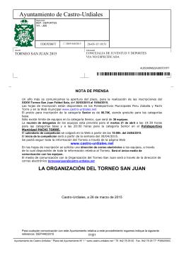 Torneo San Juan 2015