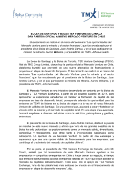 cp mercado venture español - Bolsa de Comercio de Santiago