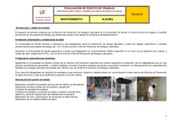 evaluación de puesto de trabajo rg-20