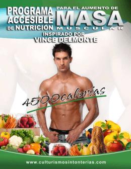 Programa Accesible de Aumento Muscular – 4500 calorías