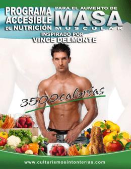 Programa Accesible de Aumento Muscular – 3500 calorías