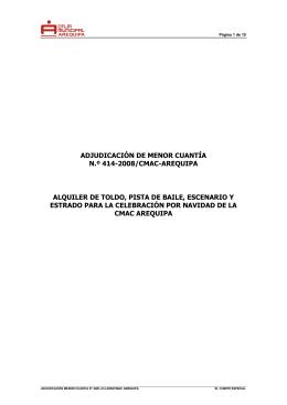 AVISO DE CONVOCATORIA