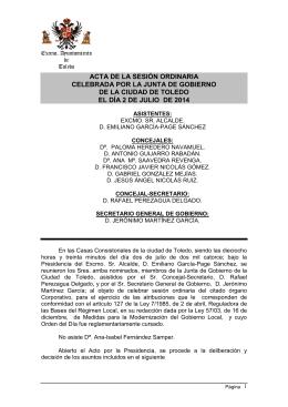 02-07-2014 - Ayuntamiento de Toledo
