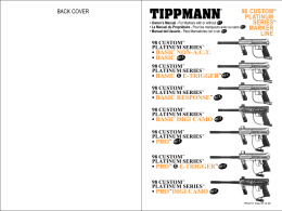 TIPPMANN® - Paintball Gun Manuals