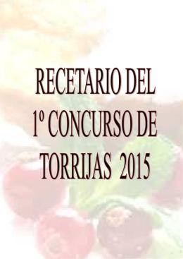 Recetario del I Concurso de Torrijas