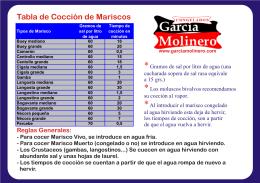 tiempos de coccion - Congelados Garcia Molinero
