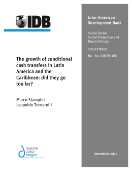 The growth of conditional cash transfers in Latin America and the