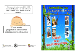 Último concierto del curso 2013-2014 mañana 19 de junio, a las