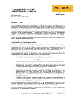 TERMOGRAFÍA EN SISTEMAS DE DISTRIBUCIÓN ELÉCTRICA