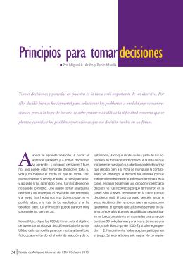 Principios para tomar decisiones