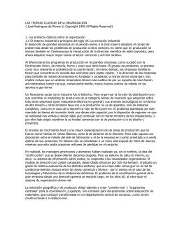 LAS TEORIAS CLASICAS DE la ORGANIZACION