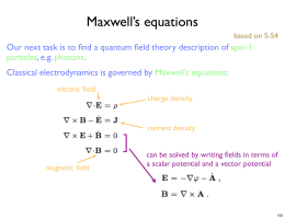 Maxwell`s equations