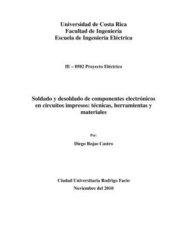 Informe - Escuela de Ingeniería Eléctrica