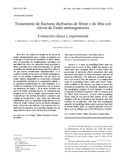 Fracturas diafisarias de fémur y de tibia con clavos de Ender