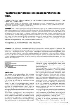 Fracturas periprotésicas postoperatorias de tibia.