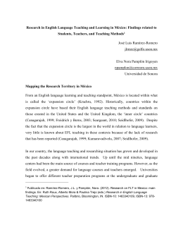 Research in English Language Teaching and Learning in México