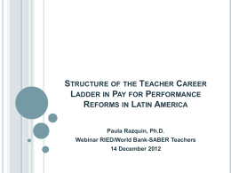 structure of the teacher career ladder in pay for performance reforms