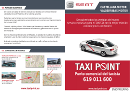 Punto comercial del taxista - Volkswagen Group Retail Spain