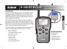 R-100-KIT& CL-R1 Remote Control User`s Guide