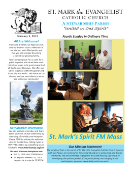 Fourth Sunday in Ordinary Time St. Mark`s Spirit FM Mass All Are